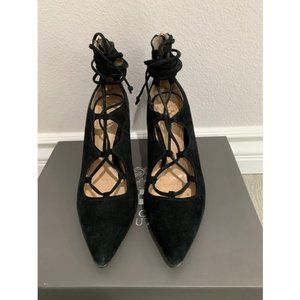 Vince Camuto Black Barsha Lace Up Pump